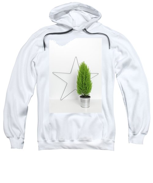 Christmas Star And Little Green Tree Sweatshirt
