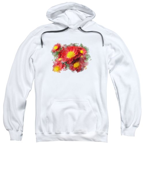 Chrysanthemum Watercolor Art Sweatshirt