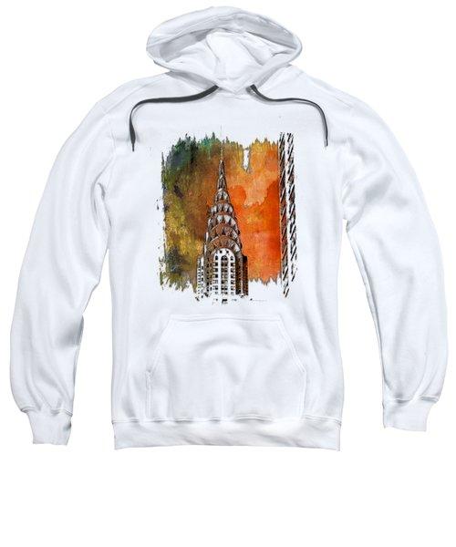 Chrysler Spire Earthy Rainbow 3 Dimensional Sweatshirt by Di Designs