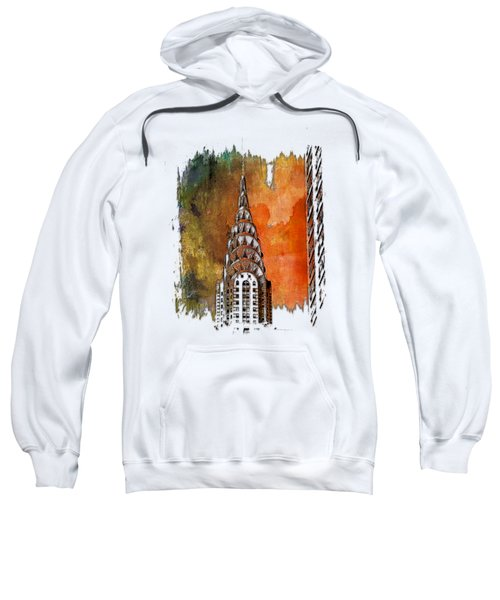 Chrysler Spire Earthy Rainbow 3 Dimensional Sweatshirt