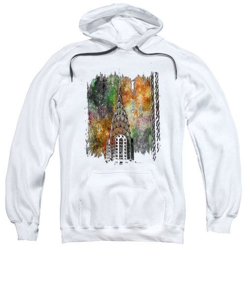 Chrysler Spire Muted Rainbow 3 Dimensional Sweatshirt by Di Designs