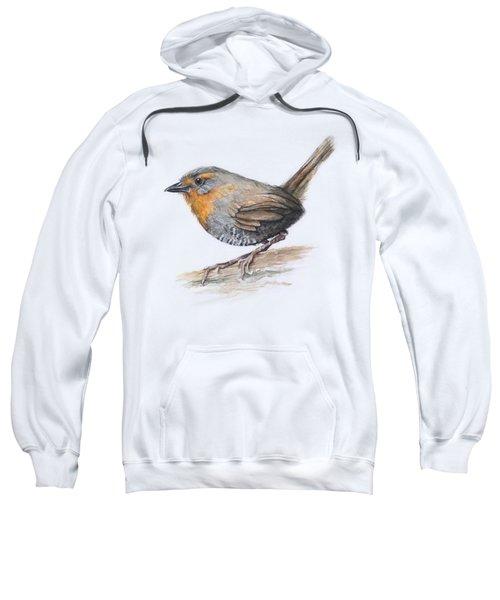 Chucao Tapaculo Watercolor Sweatshirt