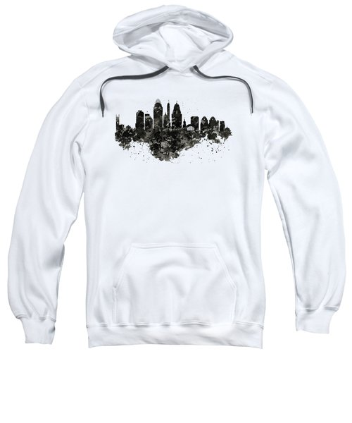 Cincinnati Skyline Black And White Sweatshirt