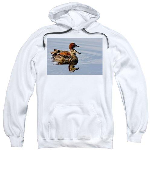 Cinnamon Teal Pair Sweatshirt