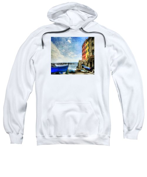 Cinque Terre - Little Port Of Riomaggiore - Vintage Version Sweatshirt