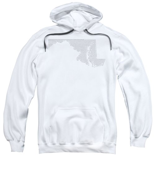Cities And Towns In Maryland Black Sweatshirt by Custom Home Fashions