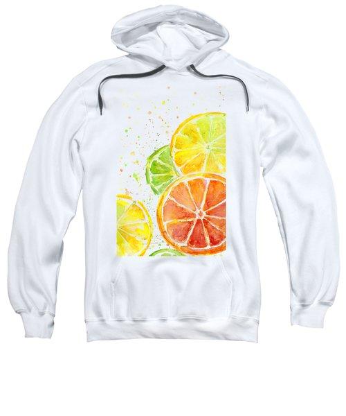 Citrus Fruit Watercolor Sweatshirt