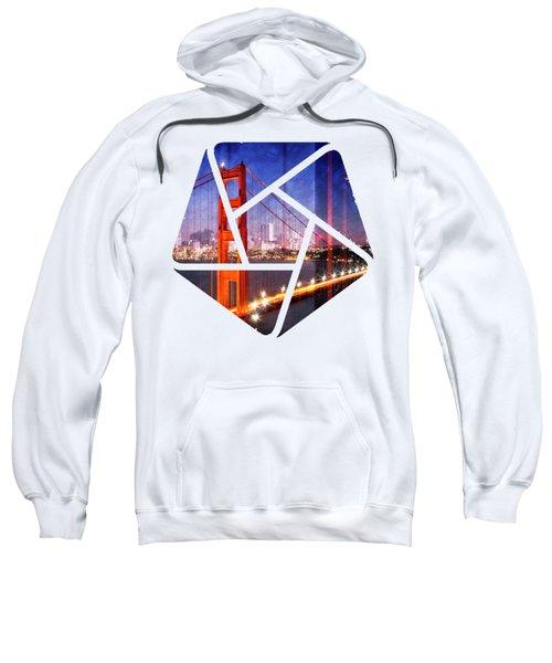 City Art Golden Gate Bridge Composing Sweatshirt by Melanie Viola