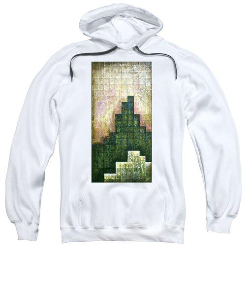 City In Green Sweatshirt
