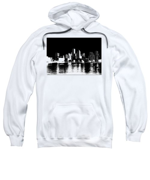 City Of Boston Skyline   Sweatshirt by Enki Art