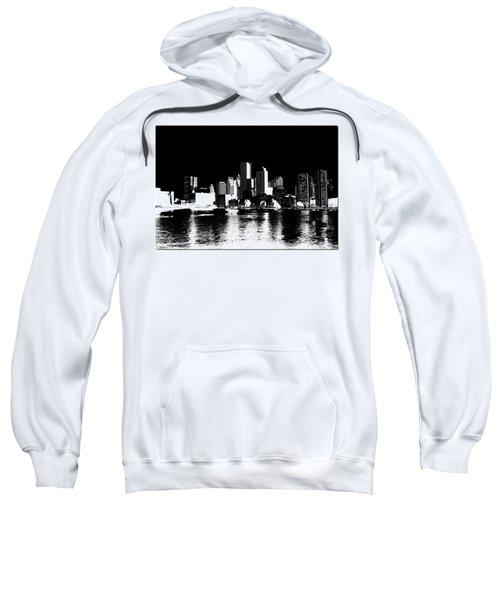 City Of Boston Skyline   Sweatshirt