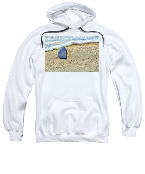 Clamshell In The Waves On Assateague Island Sweatshirt