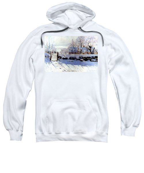 Claude Monet The Magpie - To License For Professional Use Visit Granger.com Sweatshirt