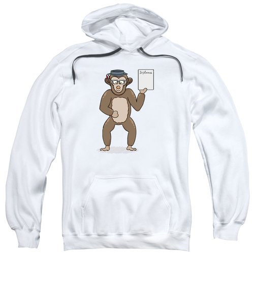 Clever Monkey With Diploma Sweatshirt