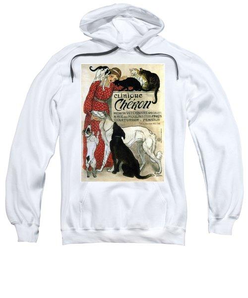 Clinique Cheron - Vintage Clinic Advertising Poster Sweatshirt