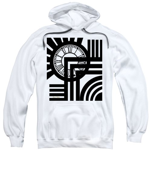Clock Design Vertical Sweatshirt