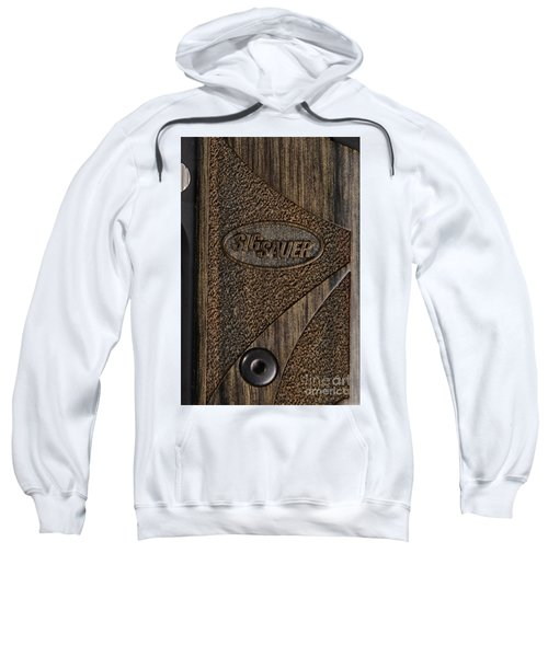 Closeup Of Sig Sauer Pistol Grip Sweatshirt