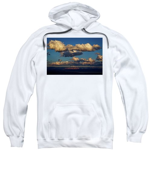 Clouds And Red Rocks Hdr Sweatshirt