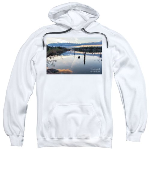 Clouds Reflecting On Large Lake During Sunset Sweatshirt