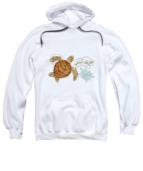 Coastal Waterways - Green Sea Turtle Rectangle 2 Sweatshirt