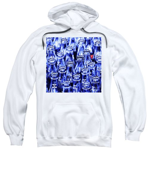Coca-cola Coke Bottles - Return For Refund - Square - Painterly - Blue Sweatshirt