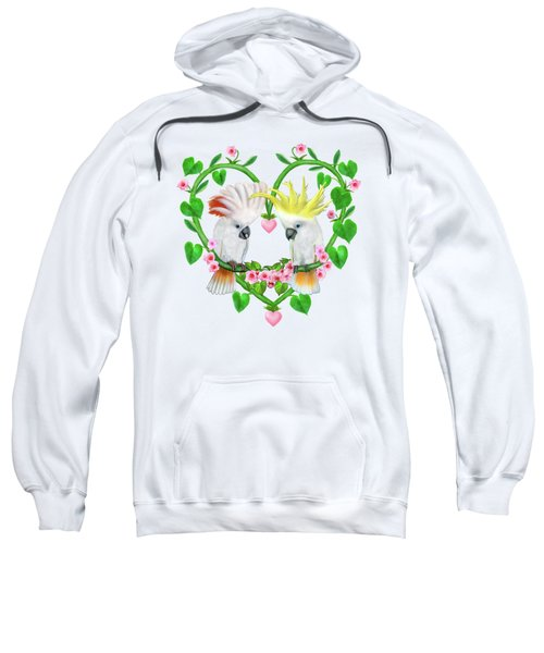 Cockatoos Of The Heart Sweatshirt by Glenn Holbrook