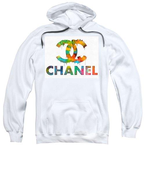 Coco Chanel Paint Splatter Color Sweatshirt