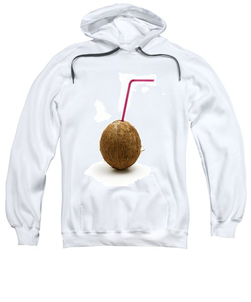 Coconut With A Straw Sweatshirt