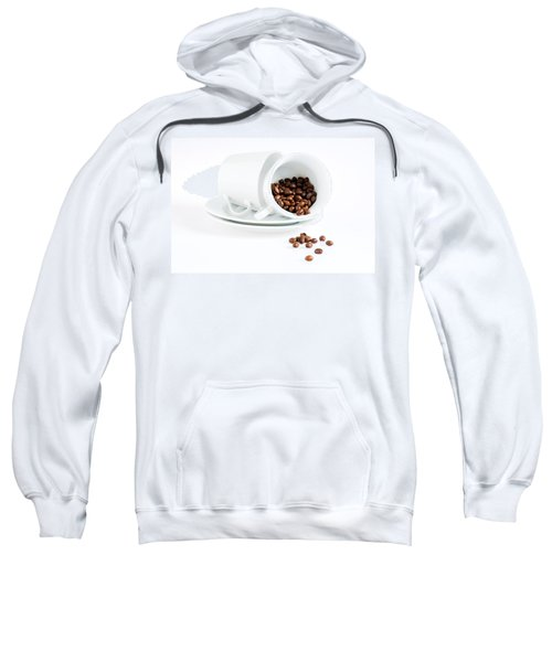 Coffee Cups And Coffee Beans  Sweatshirt