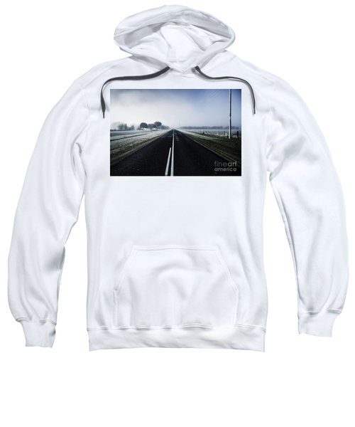 Cold Blue Winter Road Sweatshirt