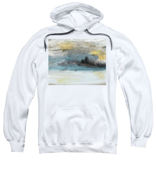 Cold Day Lakeside Abstract Landscape Sweatshirt