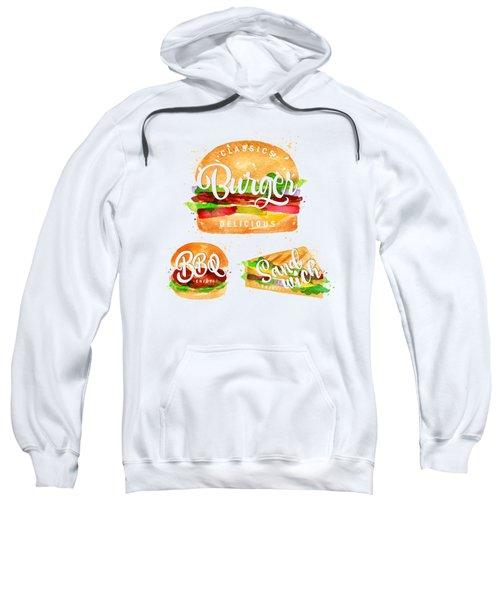 Color Burger Sweatshirt by Aloke Creative Store