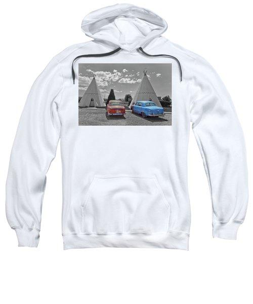 Colored Cars And Tee Pee Motel--holbrook Sweatshirt