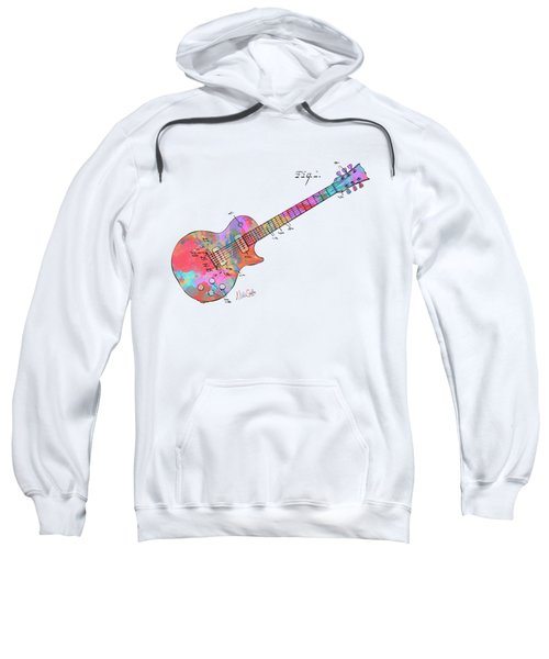 Colorful 1955 Mccarty Gibson Les Paul Guitar Patent Artwork Mini Sweatshirt