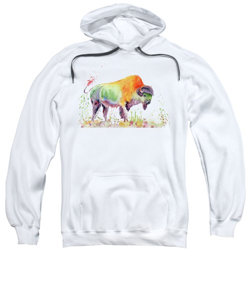 Colorful American Buffalo Sweatshirt by Melly Terpening