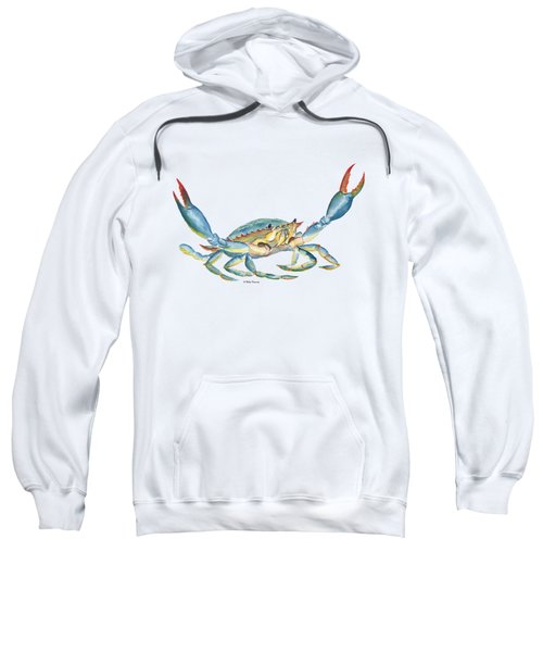 Colorful Blue Crab Sweatshirt