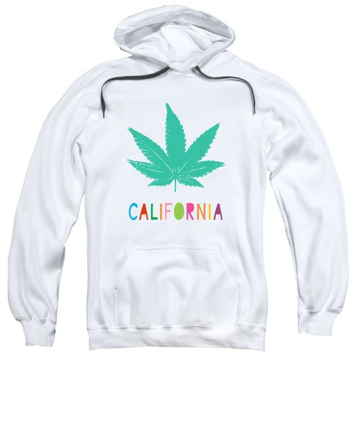 Colorful California Cannabis- Art By Linda Woods Sweatshirt