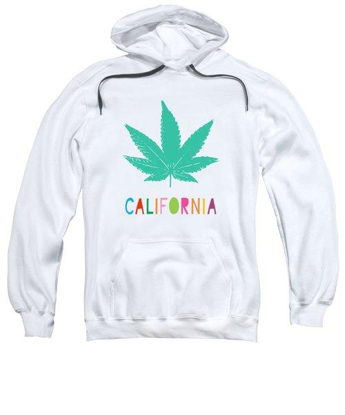 Colorful California Cannabis- Art By Linda Woods Sweatshirt
