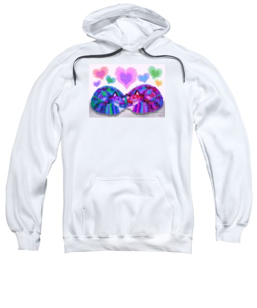 Colorful Cats And Hearts Sweatshirt
