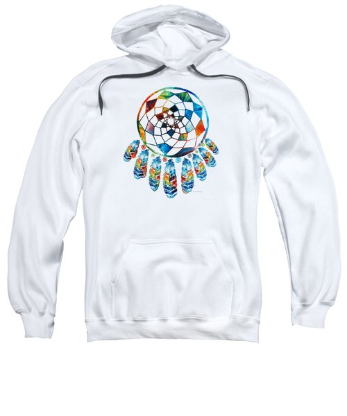 Colorful Dream Catcher By Sharon Cummings Sweatshirt