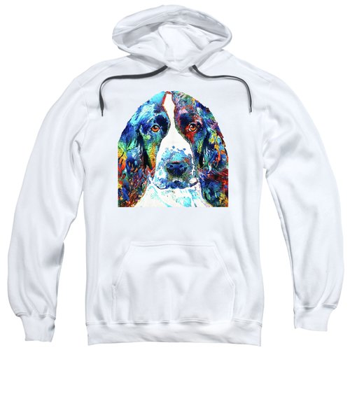 Colorful English Springer Spaniel Dog By Sharon Cummings Sweatshirt