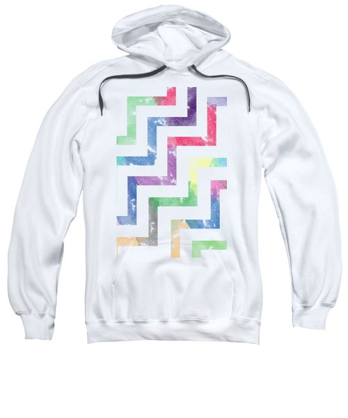 Colorful Geometric Patterns Vi Sweatshirt by Amir Faysal