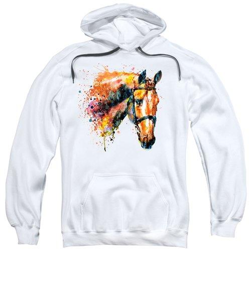 Colorful Horse Head Sweatshirt by Marian Voicu