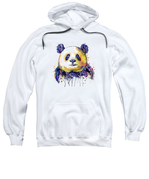 Colorful Panda Head Sweatshirt
