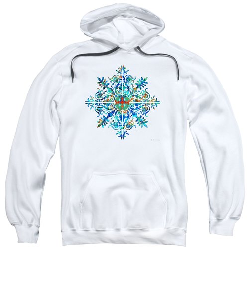 Colorful Pattern Art - Color Fusion Design 5 By Sharon Cummings Sweatshirt