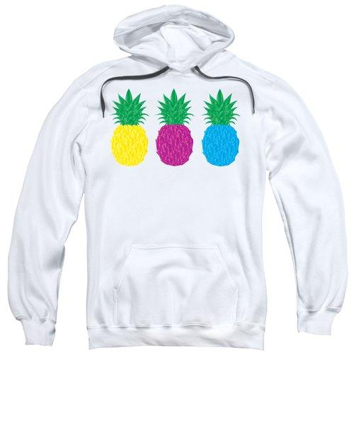 Colorful Pineapples Sweatshirt by Leah Hawkins