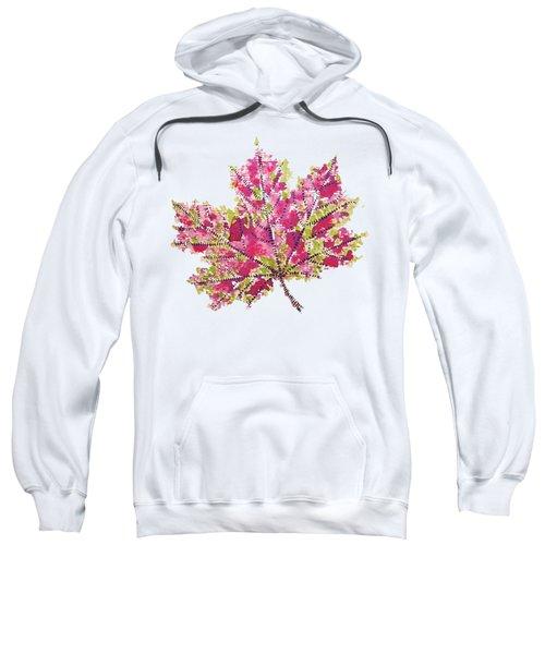 Colorful Watercolor Autumn Leaf Sweatshirt