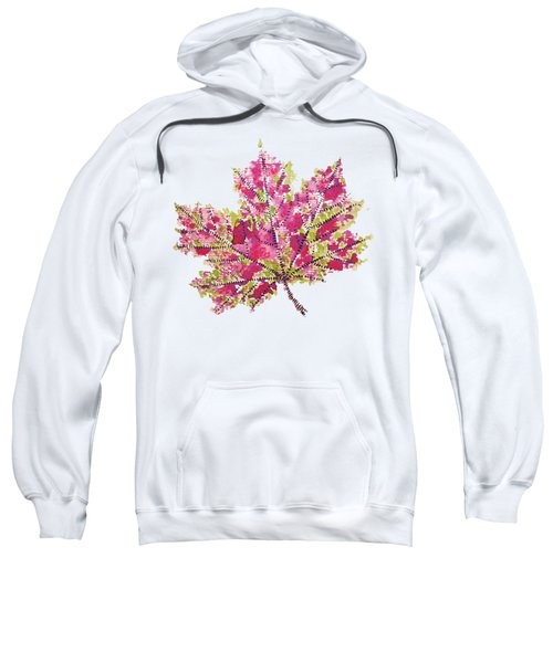 Colorful Watercolor Autumn Leaf Sweatshirt