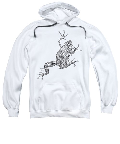 Coloring Page With Beautiful Frog Drawing By Megan Duncanson Sweatshirt by Megan Duncanson