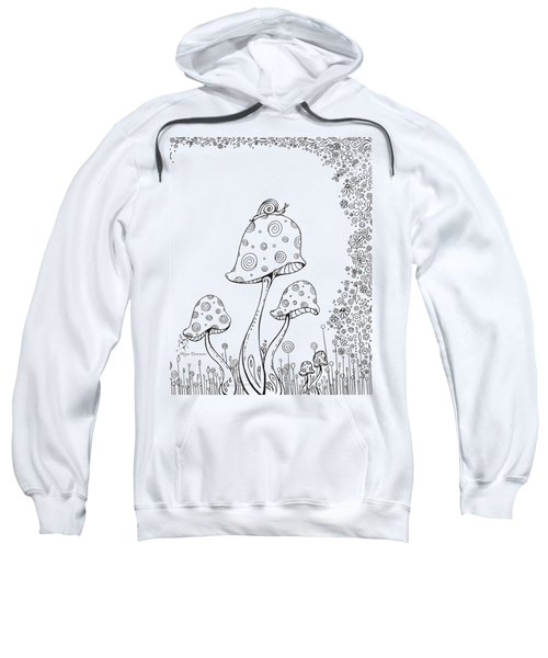 Coloring Page With Beautiful In The Garden 8 Drawing By Megan Duncanson Sweatshirt by Megan Duncanson